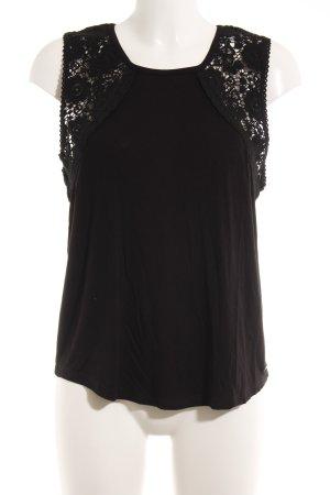 Rip curl Top di merletto nero motivo floreale stile casual