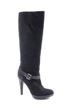 Ripa Botas de tacón alto negro estilo clásico