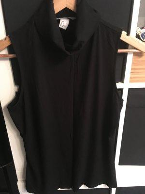 Ripp-Shirt mit Rollkragen schwarz Gr. M H&M
