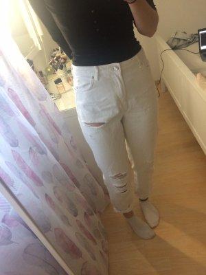 Bershka Boyfriend Trousers multicolored