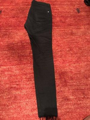 Pull & Bear Tube jeans wit-zwart