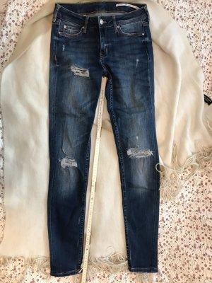 Ripped Jeans blau von Zara