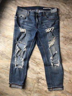 Zara Woman Boyfriend Jeans blue