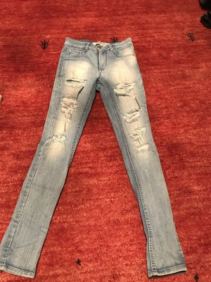 Tube jeans azuur