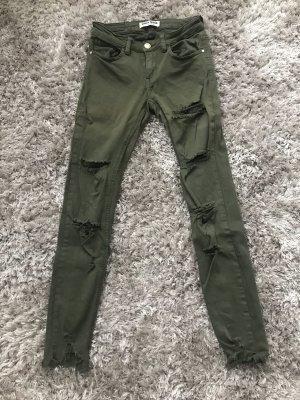 Ripped Jeans in Khaki Größe 36