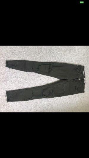 Tally Weijl Stretch jeans khaki-donkergroen