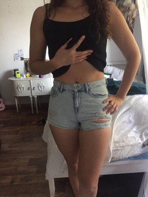 Topshop Denim Shorts baby blue