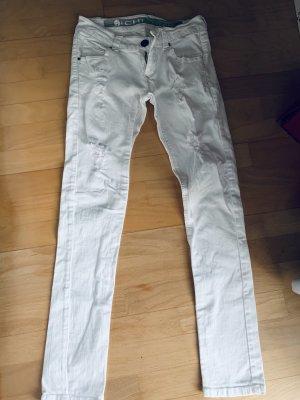 Ichi Jeans de moto blanc