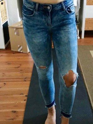 Zara Jeans a 7/8 blu fiordaliso-blu acciaio