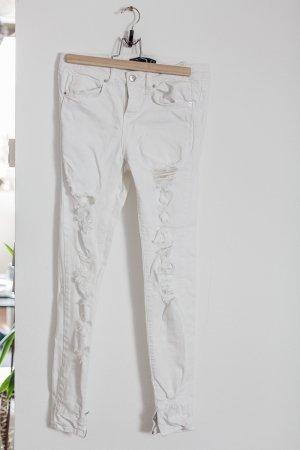 Ripped Skinny Jeans Weiß