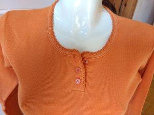 Camisa acanalada naranja