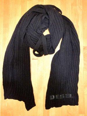 Diesel Sciarpa lavorata a maglia nero
