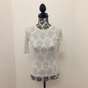H&M Camisa acanalada crema-blanco puro