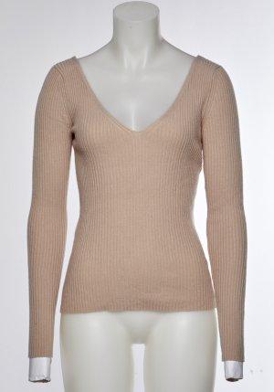H&M Ribbed Shirt dusky pink mixture fibre