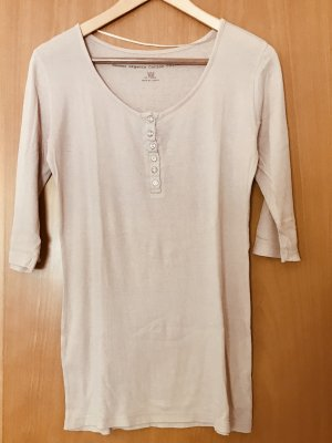 H&M Ribbed Shirt nude cotton