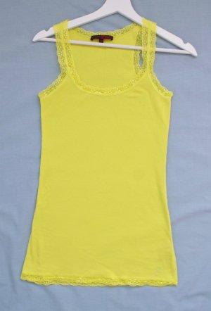 Tom Tailor Geribd shirt limoen geel-neongeel