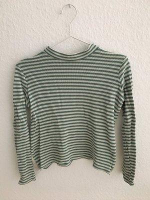 Urban Outfitters Jersey de cuello redondo verde hierba-blanco