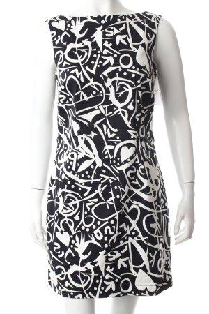 Rise Trägerkleid schwarz-weiß abstrakter Druck