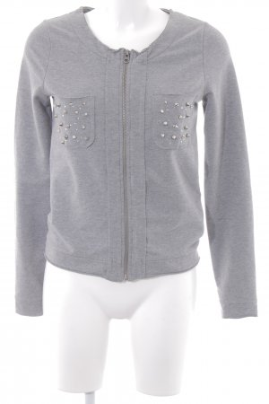 Risskio Sweatjacke grau Casual-Look