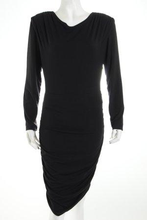 Ritmo di Perla Jerseykleid schwarz schlichter Stil