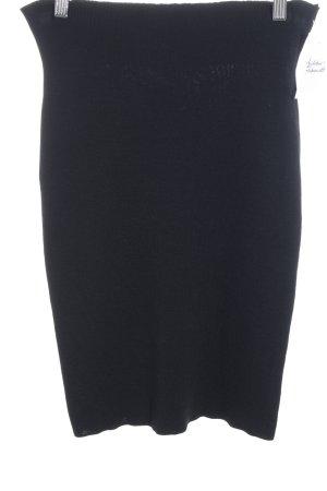 Rivamonti Gebreide rok zwart klassieke stijl