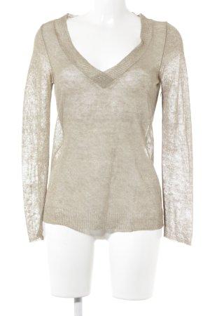 Rivamonti V-Ausschnitt-Shirt beige Casual-Look