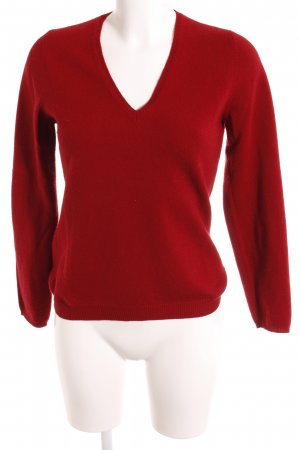 Rivamonti Wollpullover dunkelrot Casual-Look