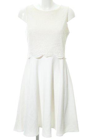 River Island A-Linien Kleid hellbeige florales Muster Romantik-Look