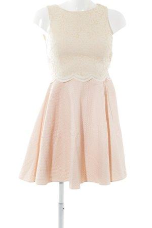 River Island A-Linien Kleid rosa-weiß florales Muster Elegant