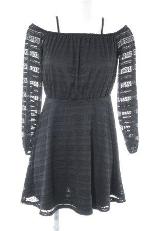 River Island A-Linien Kleid schwarz Aztekenmuster Elegant