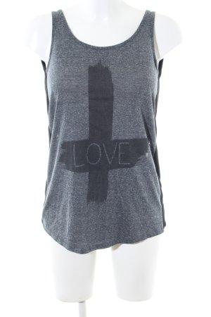 River Island Sleeveless Blouse light grey themed print casual look