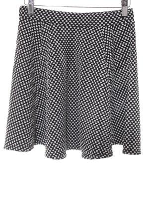 River Island Jupe asymétrique noir-blanc motif de tache style décontracté