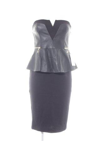 River Island Vestido bandeau negro elegante