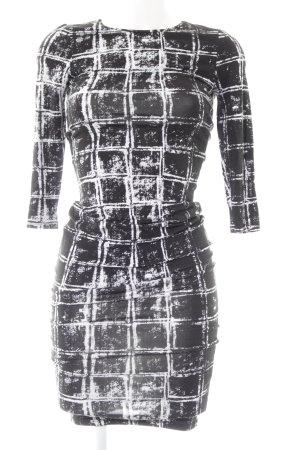 River Island Bleistiftkleid schwarz-weiß grafisches Muster Party-Look