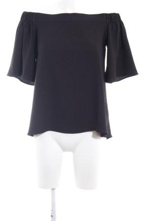 River Island Carmen blouse zwart romantische stijl