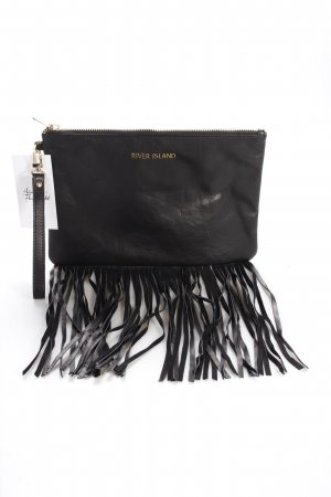 River Island Clutch schwarz-goldfarben Party-Look