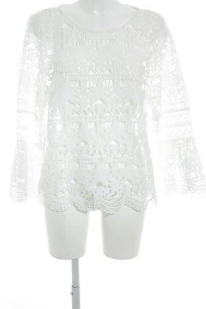 River Island Top en maille crochet blanc Motif d'étoiles style Boho