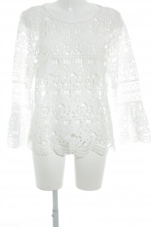 River Island Crochet Shirt white star pattern Boho look