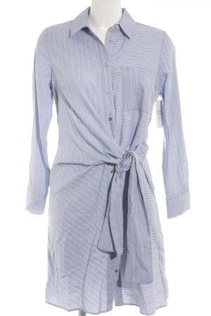 River Island Hemdblusenkleid weiß-babyblau Streifenmuster Business-Look