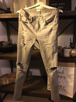 River Island Jeans cigarette gris clair