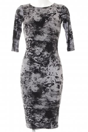 River Island Jerseykleid schwarz-grau Allover-Druck Casual-Look