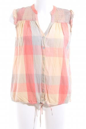 River Island Checked Blouse pink-primrose allover print casual look