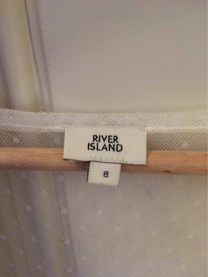 River Island Chiffon jurk wit