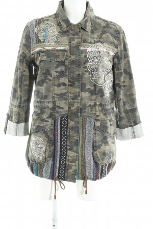 River Island Long Jacket camouflage pattern military look
