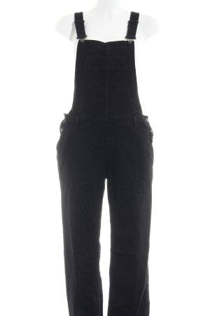 River Island Latzhose schwarz Jeans-Optik