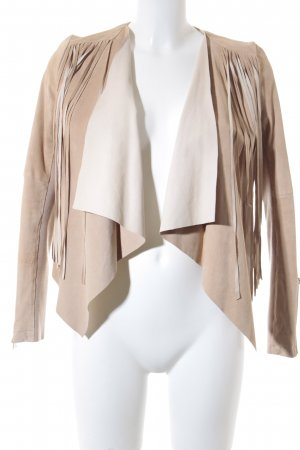 River Island Giacca in pelle beige stile casual