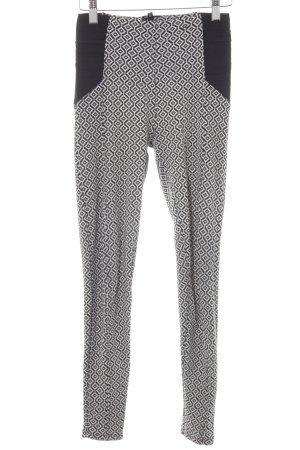 River Island Leggings schwarz-weiß abstraktes Muster sportlicher Stil