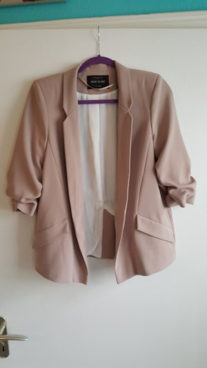 River Island Long Blazer Nude