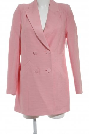 River Island Long-Blazer rosa Street-Fashion-Look