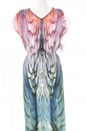 River Island Maxikleid abstraktes Muster Retro-Look